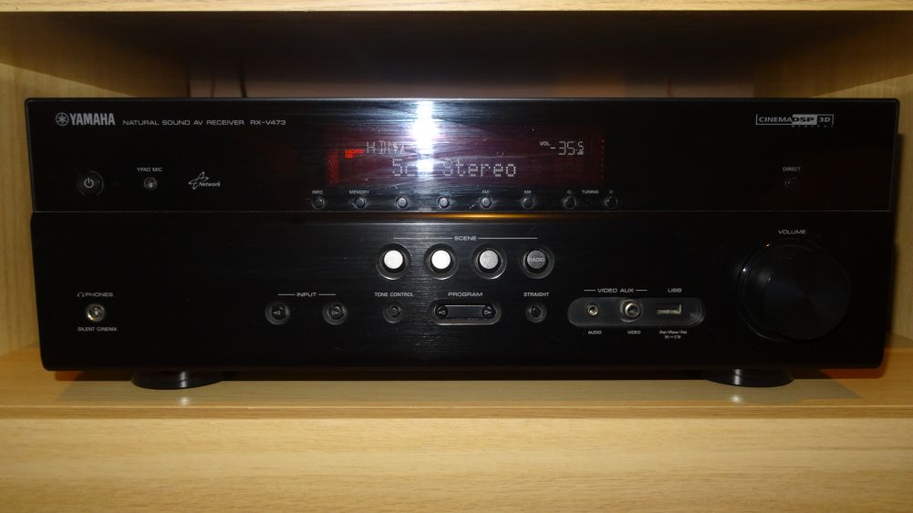Amplituner Yamaha RX-V473,kolumny 5.0 i subwoofer Yamaha YST-SW011