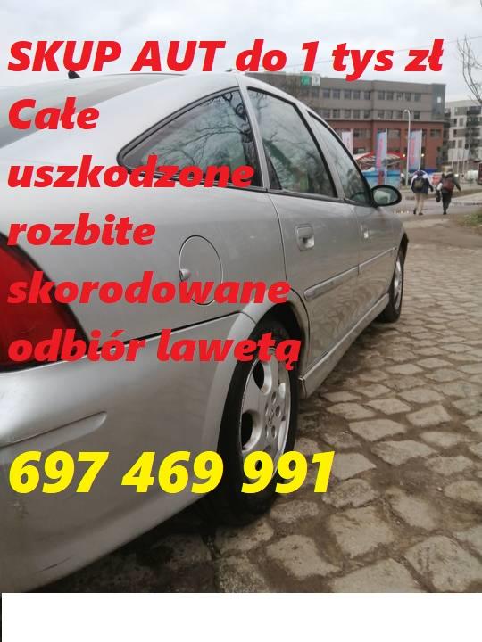 Zdecydowanie kupię auto do 1 tys zł Całe uszkodzone rozbite 697469991