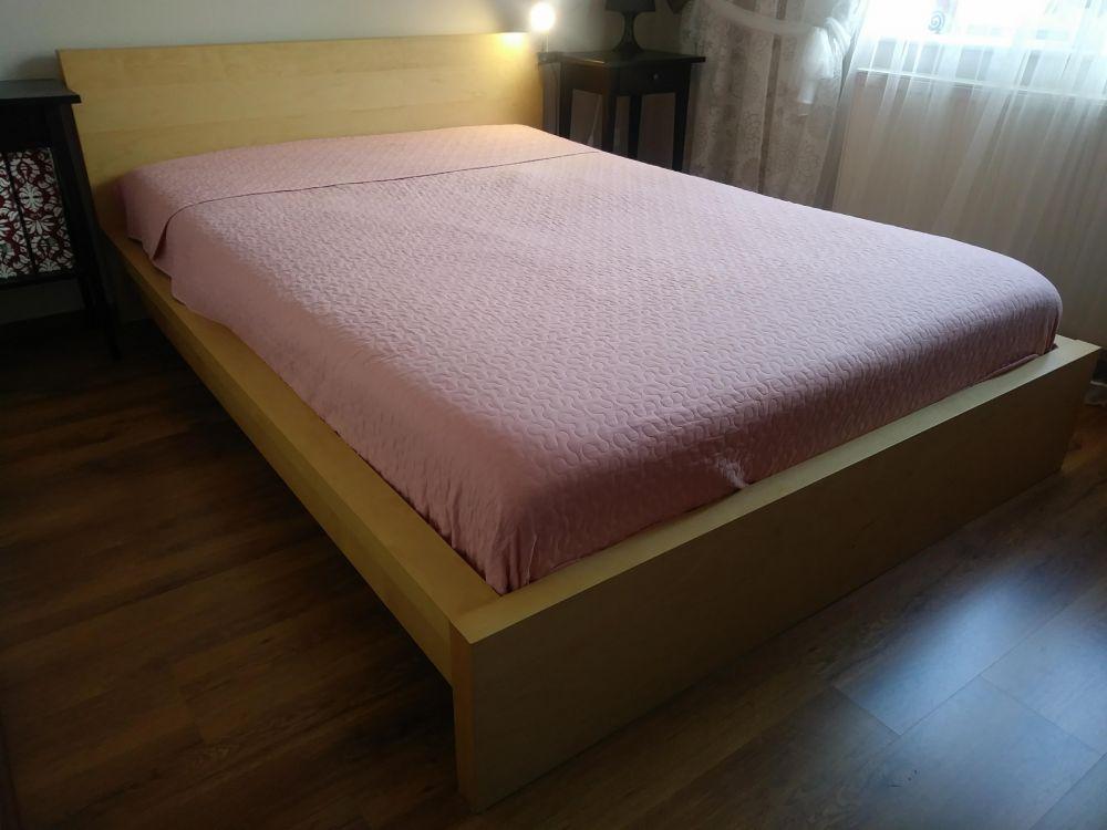 Q4pl Ogłoszenia łóżko Dwuosobowe Z Szafką Przy łóżkową Ikea